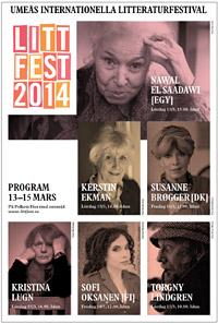 Litteraturfestivalens affisch 2014, Umeå