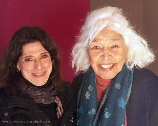 Nawal El Saadawi tillsammans med sin översättare Marie Anell